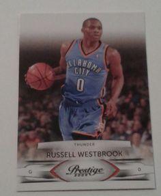 c86f01ffd6f9 2009 PANINI PRESTIGE RUSSELL WESTBROOK CARD   75  OklahomaCityThunder.  LongsCards · Basketball Cards