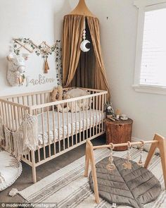 Gender neutral baby nursery Wood plays a big part in neutralising the colour palette of the room - with many parents opting for a deep brown to match leather lounges or a lighter shade of oak if the room is yellow