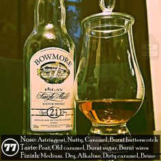 """No real smoke or peat to liven it up, it's a strangely cold feeling whisky that's hot going down. The palate is more """"Bowmore like"""" on the palate than the nose, but that slightly richer flavor is plagued by a cloying bitter chemical nature. It's definitely better than the Bowmore Legend, but not by much. A great example of age not always meaning better quality."""