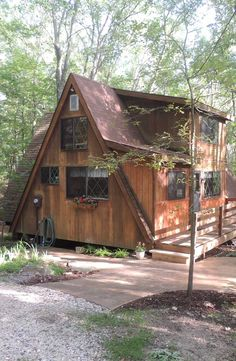 Charming 2-bedroom chalet nestled in the woods just a short distance from 32-acre Lake St. Gallen. 757 East St. Gallen Dr., Innsbrook MO http://www.innsbrook-properties.com/property/mo/innsbrook/63390/innsbrook-estates/757-east-st-gallen-drive/53b3bcc1960df92b97000171/