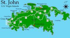 St John US Virgin Islands Caribbean US Virgin Islands St - Us virgin islands map google