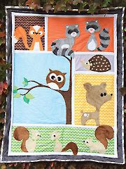 Forest Friends Block Blanket Quilt Pattern