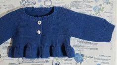 Patrón chaqueta de niña azul