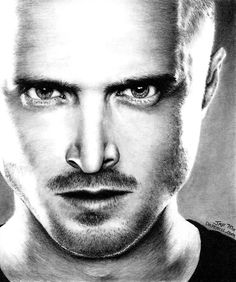 Jessie Pinkman, Breaking Bad, fantastic, art, portrait, drawing, black and white