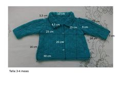 Baby Knitting Patterns, Crochet Patterns, Diy Crochet Cardigan, Knitting Wool, Crochet Baby, Knitwear, Diy Crafts, Pullover, Color Azul