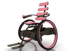 AQ Medicare: Cool Looking Wheelchair Industrial Design Mobiles, Wheelchair Accessories, Mobility Aids, Disability Awareness, Inventions, Cool Stuff, Pink, Assistive Technology, Technology Gadgets