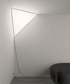 """The """"Corner Light"""" by designer Peter Bristol, for Established & Sons."""