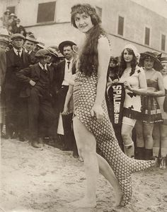 Fashionable mermaid from the 1920s