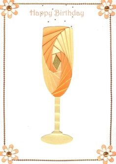 free iris folding pattern glass champagne - Google-Suche