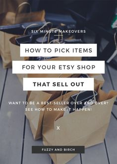 OMG, you know that thing where inventory costs $$?? Have you ever wanted to GROW your Etsy shop...or maybe expand and sell something new… But you weren't sure how to do it because you don't want to spend a ton of money on a product that doesn't SELL?? Don't just ASSUME that if you see something on Etsy that it's worth selling. That's how you wind up with a garage full of items that COLLECT DUST. So today, I'm gonna show you exactly how to do the RIGHT kind of RESEARCH...you'll learn how to…
