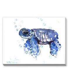 Look at this #zulilyfind! Blue Small Tortoise Wall Art by Suren Nersisyan #zulilyfinds