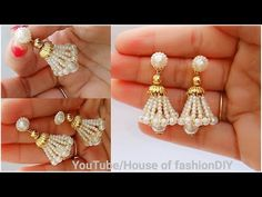 How To Make Beaded Earrings||Beaded Jumkies||Head pin earrings - YouTube