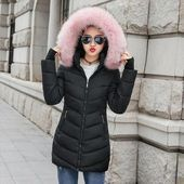 Pandapang Toddler Girls Puffer Hooded Winter Hooded Big Hem Belt Outwear Down Coat Jacket