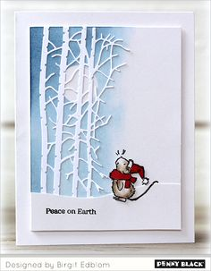 NEW Transparent Stamps: Christmas Critters | The Penny Black Blog