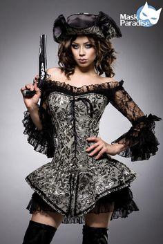 Hot Hochwertiges Mehrteiliges Piratenkostüm Damen Pirat Kostüm Damenkostüm