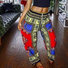 d95531cb85 2016 Dashiki Women s Yoga Pants New Brand Fitness Sports Style For Female  Leggings Plus Size Dance