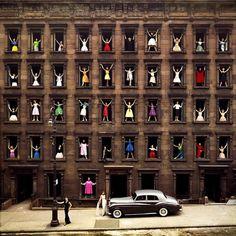 #ormondgigli #girls in the windows #newyork 1960 #dresses #colorama #hello #theredlist