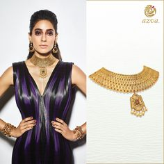 Azva contemporary choker and modern couture looks.