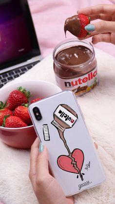 Cap for Gocase mobile phone - Nutella, hazelnut cream, strawberries, macbook, . Mobile Phone Logo, Mobile Phone Repair, Mobile Phone Cases, Cute Phone Cases, Iphone Phone Cases, Phone Covers, Nutella, Mac Book, First Iphone