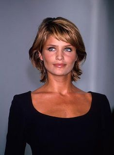 Fine Hair Style Short Hair Cuts for Women Over 50 | Helena Christensen's shag is asymmetrical and funky. See how to get …