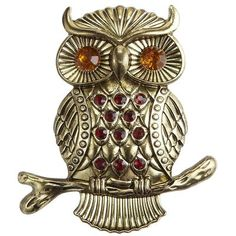 Glimmering and gold Owl Candle Pin from Pier 1