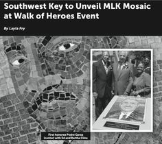 Walk of Heroes event: unveiling mlk mosiac on 2/25