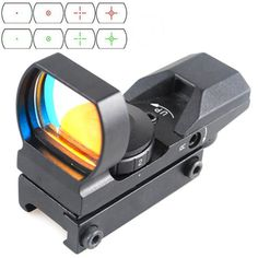 20mm Tactical Holographic 1x22x33 20mm/11mm 4 Reticle Reflex Red Green Dot Sight…