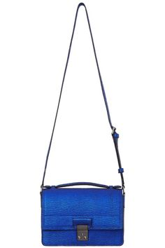 3.1 Phillip Lim Electric Blue Mini Messenger Bag - Shop more of the best and brightest summer bags. http://www.harpersbazaar.com/fashion/fashion-articles/best-summer-bags