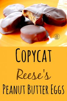 I came up with a Copycat Reese's Peanut Butter Egg recipe that will knock. your. socks off! And with only 6 ingredients (ones that you'll actually recognize, too), your tummy will thank you.
