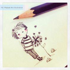 bee boo boy doodle by majeakann