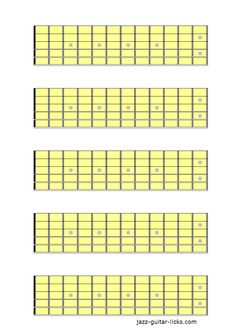 Blank Neck Diagram X  Blank Fretboard  Blocks With  Frets