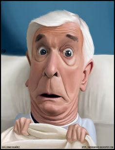 Image detail for -Leslie Nielsen caricature by ~GuillermoRamirez on deviantART