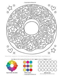 Notebook Doodles Sweets Treats Coloring Activity Book Jess Volinski 9781497202498
