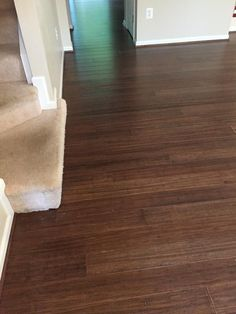 """Distressed textures = rustic beauty! >>> """"We put bamboo flooring in our entire first level - living room, kitchen and powder room. The project was easy and straight forward from start to finish. The associates at Lumber Liquidators made the buying process easy and quick and the bamboo flooring was very easy to install ourselves! We couldn't be happier with the results!"""""""