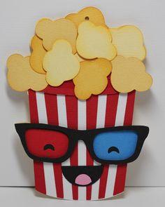 SVG Cutting Files: Kawaii Popcorn Gift Card Holder