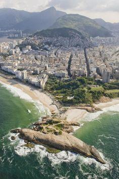 Praia de Ipanema, Pedra do Arpoador - Rio de Janeiro, Brasil