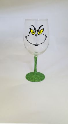 The Grinch Wine Glass Christmas Wine Glass, Christmas Wine Glasses, Holiday Wine Glass, Holiday Gifts, Stocking Stuffer by SiplySophisticated on Etsy