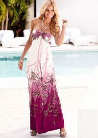 Berry Multi Halter Maxi Dress by...    $44.00