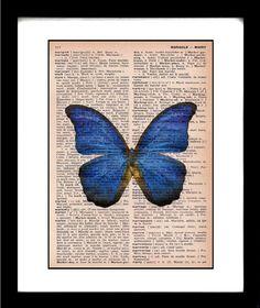 butterfly print  butterfly art print  by littlebluebirdstudios, $10.00