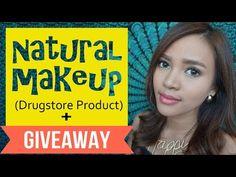Natural Makeup (Drugstore Product) + GIVEAWAY - Bahasa - YouTube