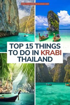 There are plenty of things to do in Krabi from beautiful beaches to epic adventures in the jungle. Thailand Adventure, Thailand Travel Guide, Asia Travel, Croatia Travel, Travel Abroad, Hawaii Travel, Italy Travel, Beautiful Places To Visit, Cool Places To Visit