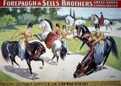Vintage Adam Forepaugh & Sells Brothers Circus Poster