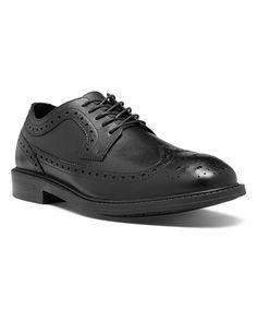 Black Grayson Leather Oxford - Men