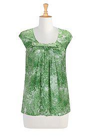 Beau belle cotton print blouse