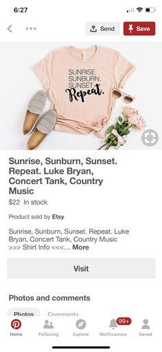 Luke Bryan Shirts, Country Music Shirts, Etsy, Things To Sell, Fashion, Moda, Fashion Styles, Fashion Illustrations