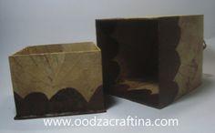 leaf art box with unique shape