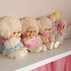 adorable cute kitsch kawaii vintage lamb toy just for you followers for easter * monchhichi friends *