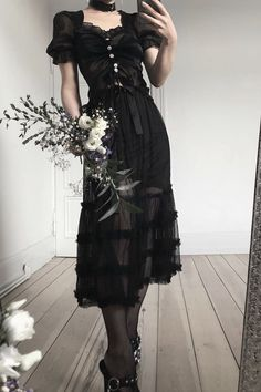 Gothic Outfits, Edgy Outfits, Grunge Outfits, Pretty Outfits, Pretty Dresses, Cool Outfits, Fashion Outfits, Style Fashion, Fashion Tips