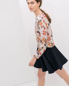 FLORAL PRINT CROP TOP from Zara