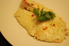 broiled tilapia with parmesan cream sauce